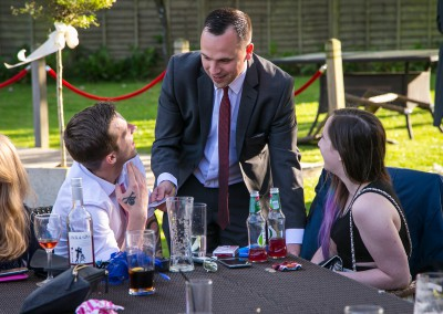 Magician Phil Taylor at a wedding