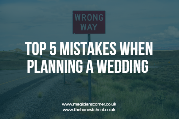 Top 5 mistakes when planning a wedding