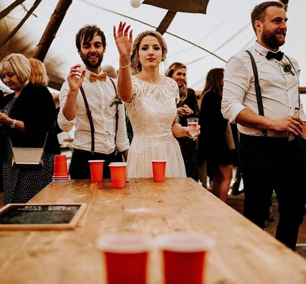 Beer Pong Wedding Games Ideas