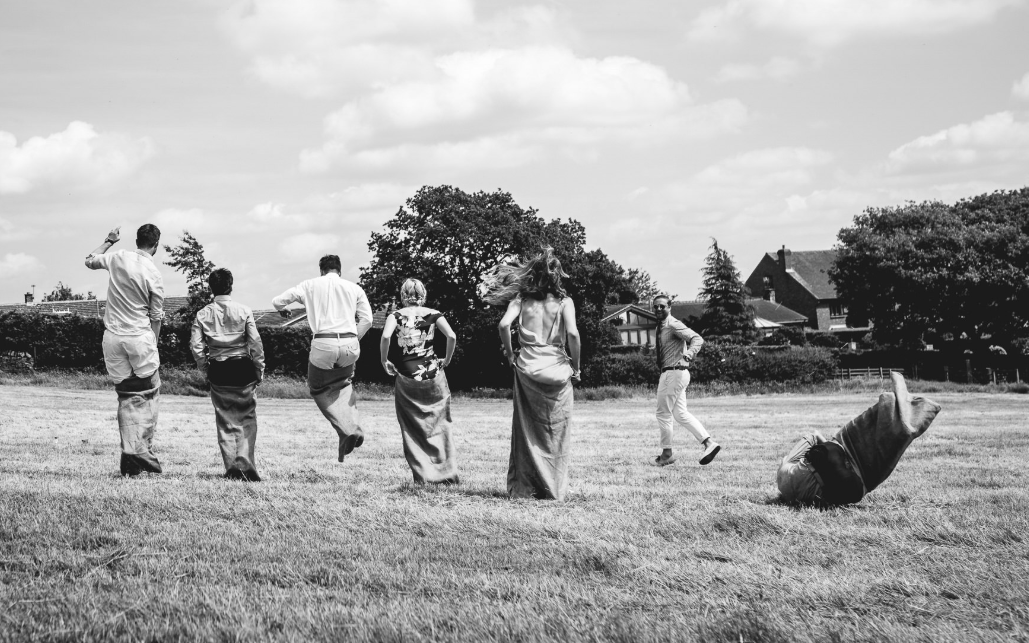 Sack Racing Wedding Games Ideas